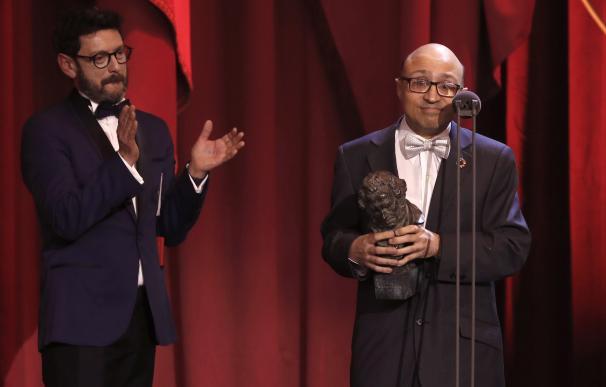 Jesús Vidal se llevó el Goya a mejor actor revelación por 'Campeones'.