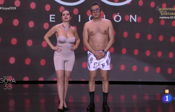 Silvia Abril y Andreu Buenafuente desnudos en los Goya