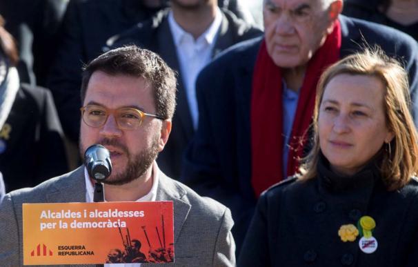 Acto de alcaldes de ERC, en Sant Vicenç dels Horts. / EFE/QUIQUE GARCIA