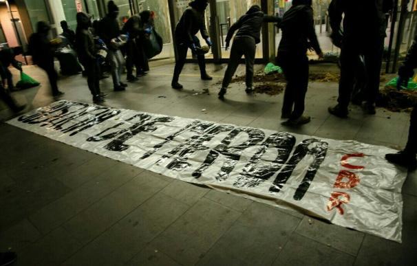 CDR lanzan excrementos en la Ciutat de la Justícia de Barcelona.
