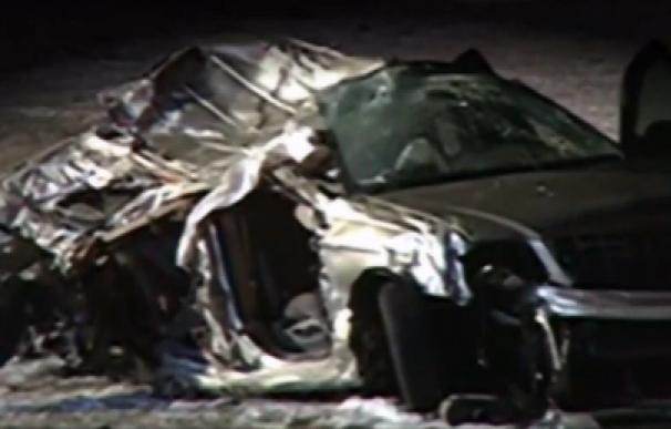 Fotografía del vehículo siniestrado en Maryland.