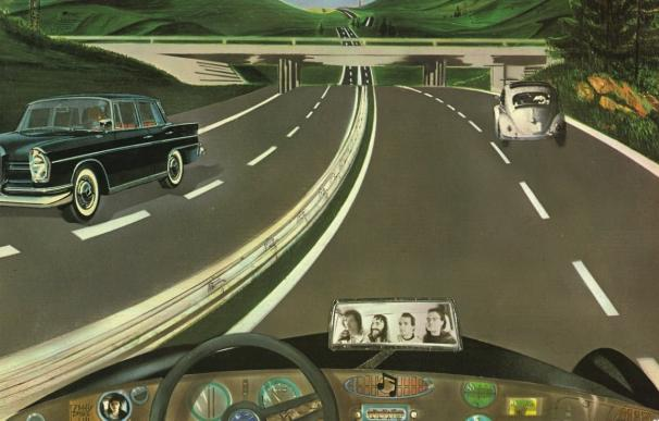 Imagen de portada del disco 'Autobahn' de Kraftwerk.
