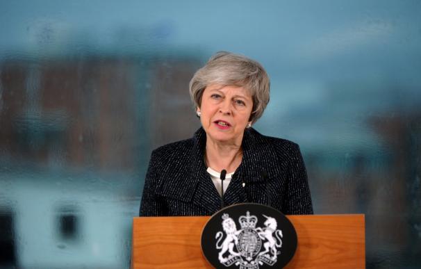 Theresa May en Belfast, Brexit