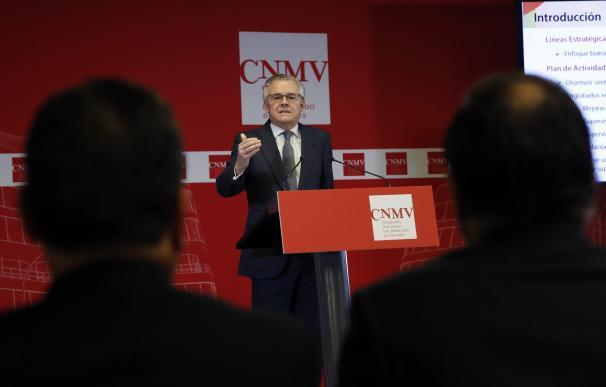 Sebastián Albella, durante la rueda de prensa que ha ofrecido para presentar los objetivos del organismo para este ejercicio. EFE/Juan Carlos Hidalgo