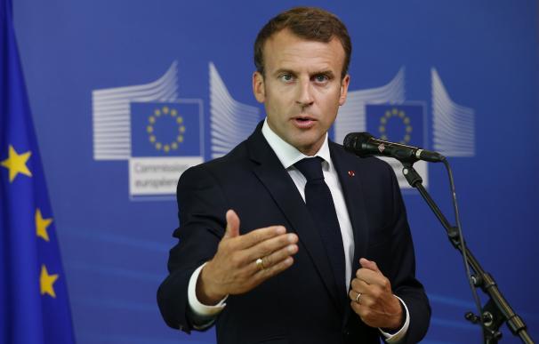 Emmanuel Macron en Bruselas