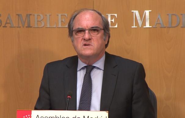 Ángel Gabilondo, portavoz del PSOE en la Asamblea de Madrid, en rueda de prensa