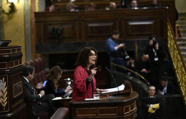 María Jesús Montero en el debate de los PGE