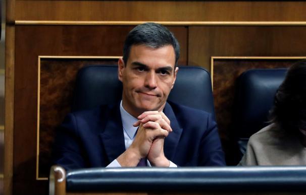 Pedro Sánchez este martes en el Congreso