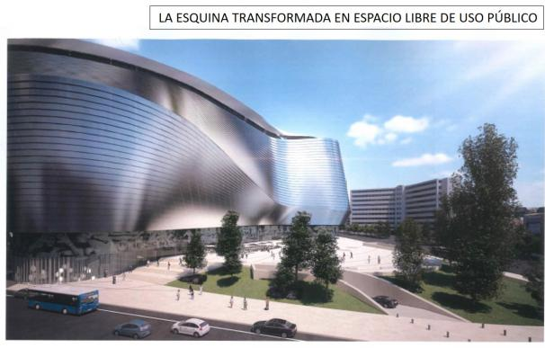 Maqueta del nuevo Bernabéu