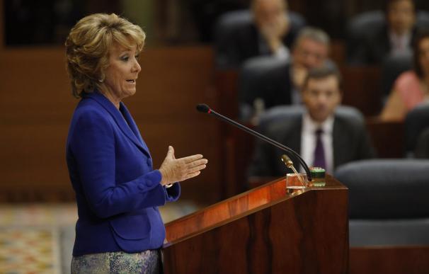 """Esperanza Aguirre sobre el Impuesto de Patrimonio: """"Cumplir la Ley es lo que voy a hacer seguro"""""""