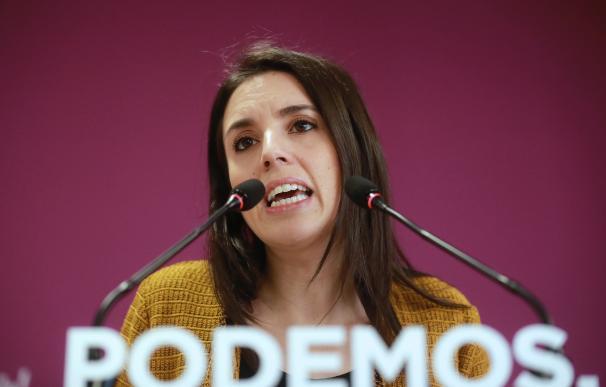 Irene Montero comparece tras el anuncio del adelanto electoral