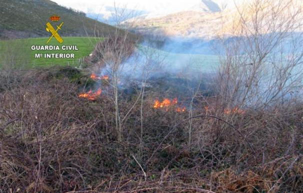 Los agentes del Seprona le vieron iniciar el fuego