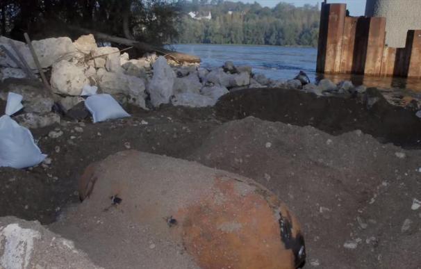 El artefacto en el lugar en el que fue hallado (TF1)