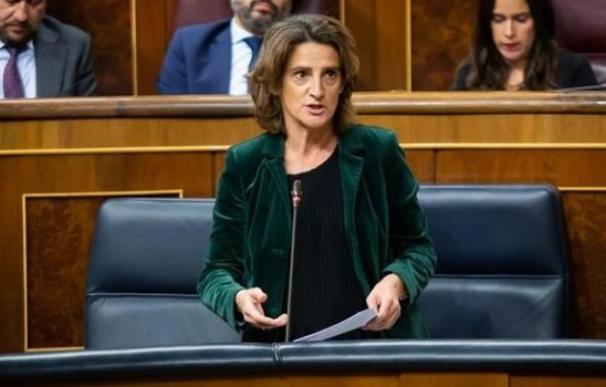 La ministra Teresa Ribera en el Congreso.