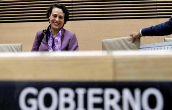 Magdalena Valerio en la Comisión de Trabajo del Congreso. / EFE