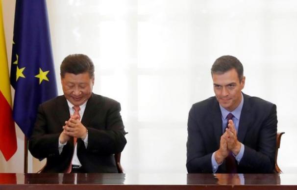 Fotografía de Sánchez y Xi Jinping / EFE
