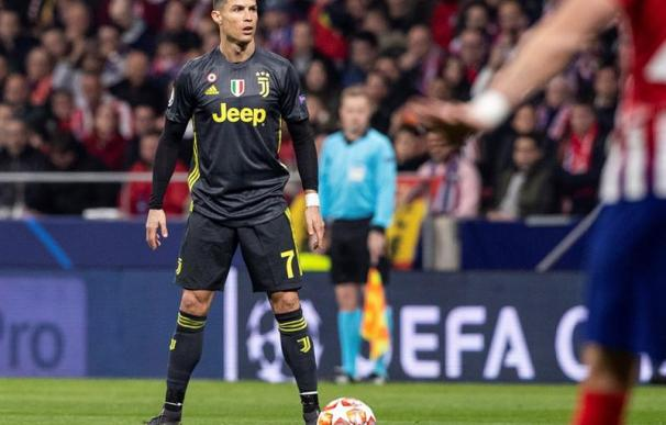 Cristiano Ronaldo en el choque entre Atlético y Juventus