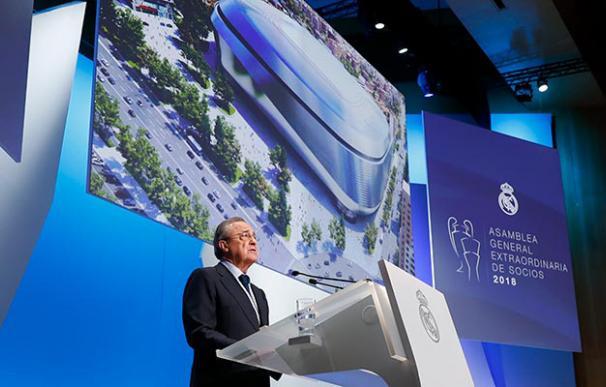 Florentino Pérez durante la última Asamblea de socios del Real Madrid