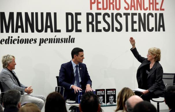 Pedro Sánchez en la presentación de su libro 'Manual de Resistencia' / EFE