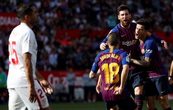 Messi lideró con un hat-trick la victoria del Barça.
