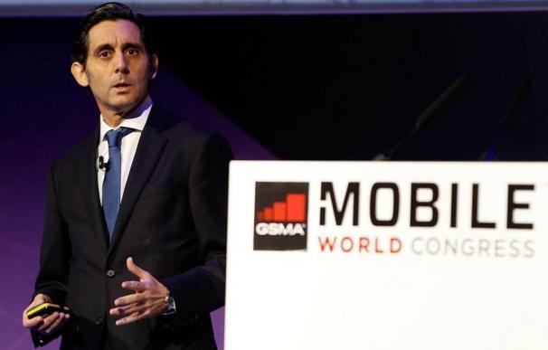 José María Álvarez-Pallete durante el Mobile World Congress