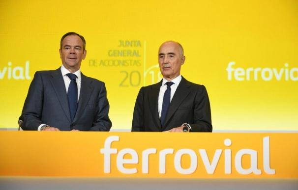 El presidente de Ferrovial, Rafael del Pino, y su consejero delegado, Íñigo Meir