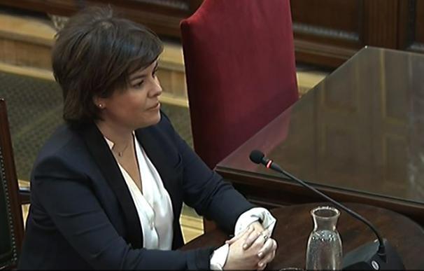 Soraya Sáenz de Santamaría declara en el Supremo en el juicio del 'procés'