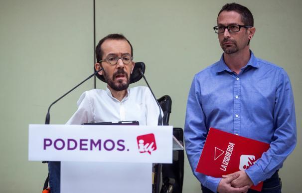 Pablo Echenique e Ismael González, responsables de Podemos e IU