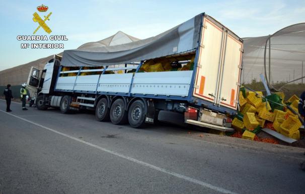 Accidente en San Pedro del Pinatar en el que el conductor multiplicaba por seis la tasa de alcohol permitida (Imagen: Guardia Civil)