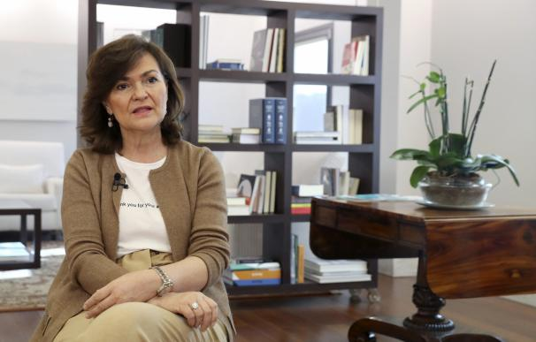 Carmen Calvo cree que las mujeres han tenido un gran peaje.