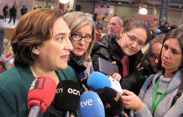 La alcaldesa de Barcelona Ada Colau. Foto de archivo