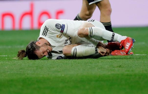 El delantero del Real Madrid Gareth Bale, durante el partido de vuelta de los octavos de final de la Liga de Campeones ante el Ajax