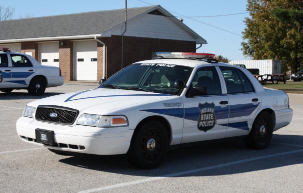 Fotografía de un coche de policía de Indiana.