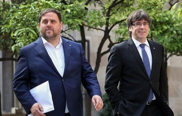 Oriol Junqueras y Carles Puigdemont (Archivo)