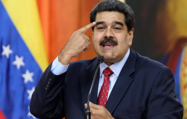 El jefe de Estado de Venezuela, Nicolás Maduro, habla durante una rueda de prensa desde el Palacio Miraflores (EFE)