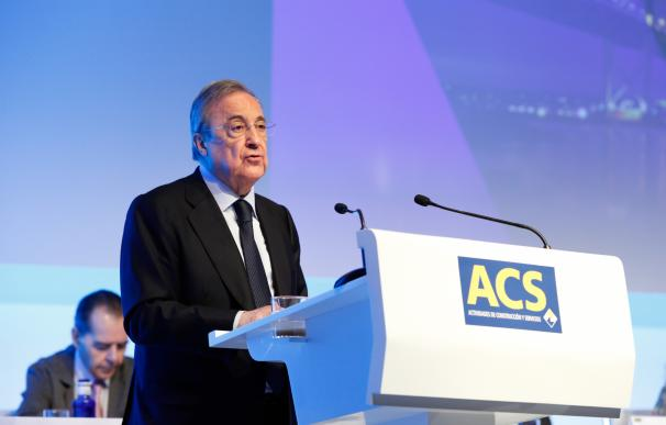 El presidente de ACS, Florentino Pérez, ante la última junta de accionistas