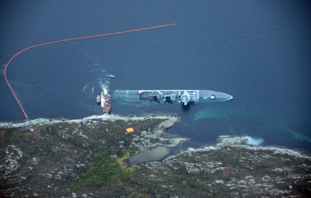 La fragata Helge Instadt bajo el agua frente a la costa de Bergen (Kystverket / Norwegian Coastal Administration)