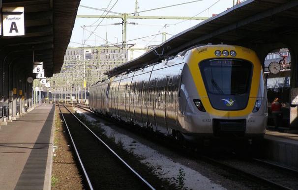 Fotografía de un tren en la estación central de Gotemburgo.