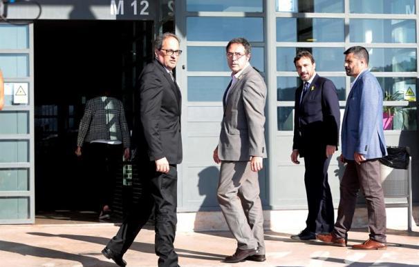 Torra y director general de Prisiones de la Generalitat