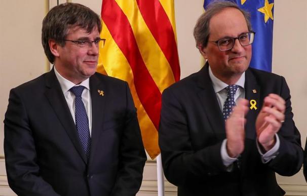 Puigdemont y Torra charla