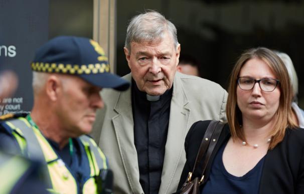 El cardenal australiano George Pell en la Corte este martes en Melbourne (Australia).