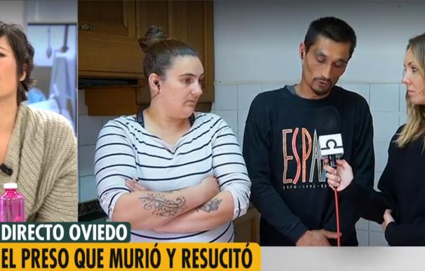 Gonzalo Montoya durante la entrevista en Telecinco.