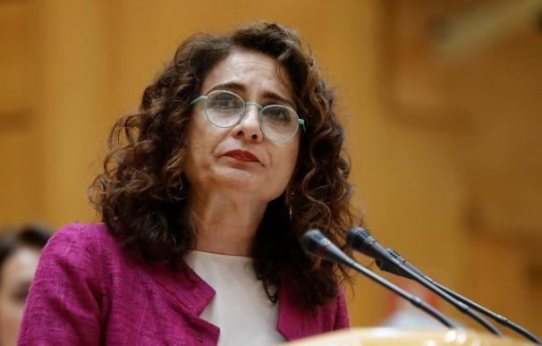 La ministra de Hacienda, María Jesús Montero, en su intervención en el Senado | EFE