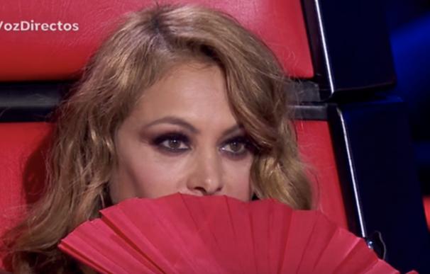 Paulina Rubio en el primer directo de La Voz