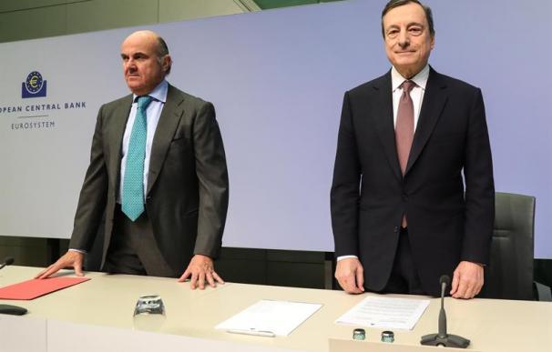 Mario Draghi y Luis de Guindos, BCE