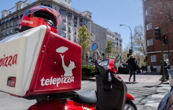 Motero, repartidor de pizza, Telepizza