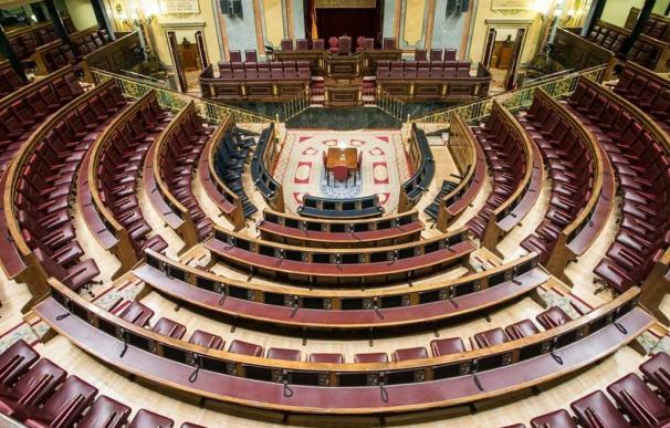 Imagen del Congreso de los Diputados vacío / EFE