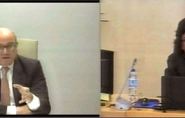 Luis de Guindos durante su declaración en el caso Bankia