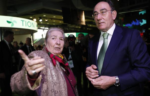 Ignacio Sánchez Galán en la junta de accionistas.