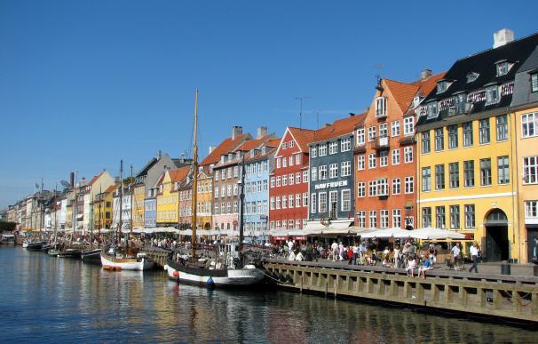 Fotografía de Copenhague, capital de Dinamarca.